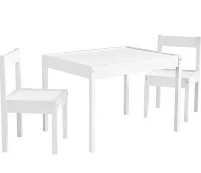 Mesa Blanca con dos sillas