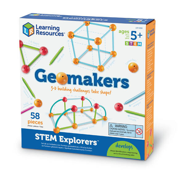 Educational Geomakers 3-D Building Challenges take Shape! [58pcs]
