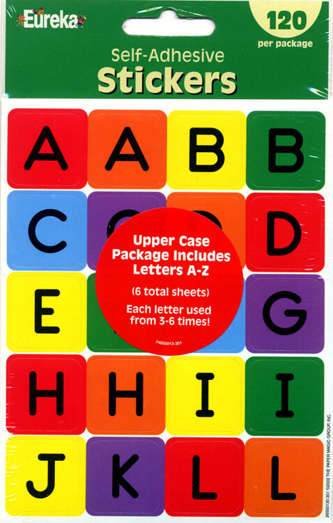 Stickers Self-Adhesive Letters A-Z