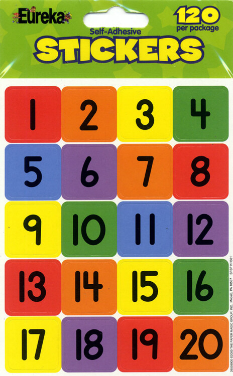 Stickers Numbers [pk-120]