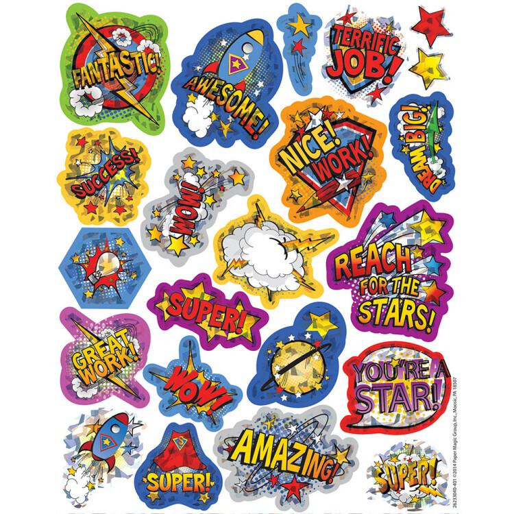 Stickers Sparkle Super
