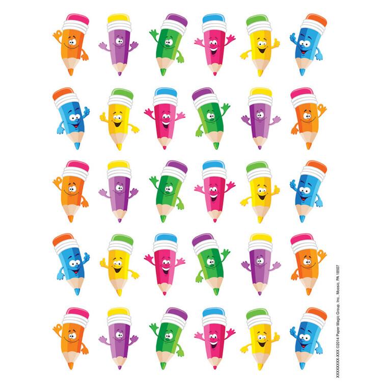 Stickers Pencil Smiley Faces