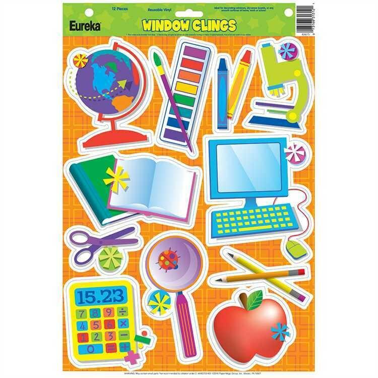 School Tools Window Clings
