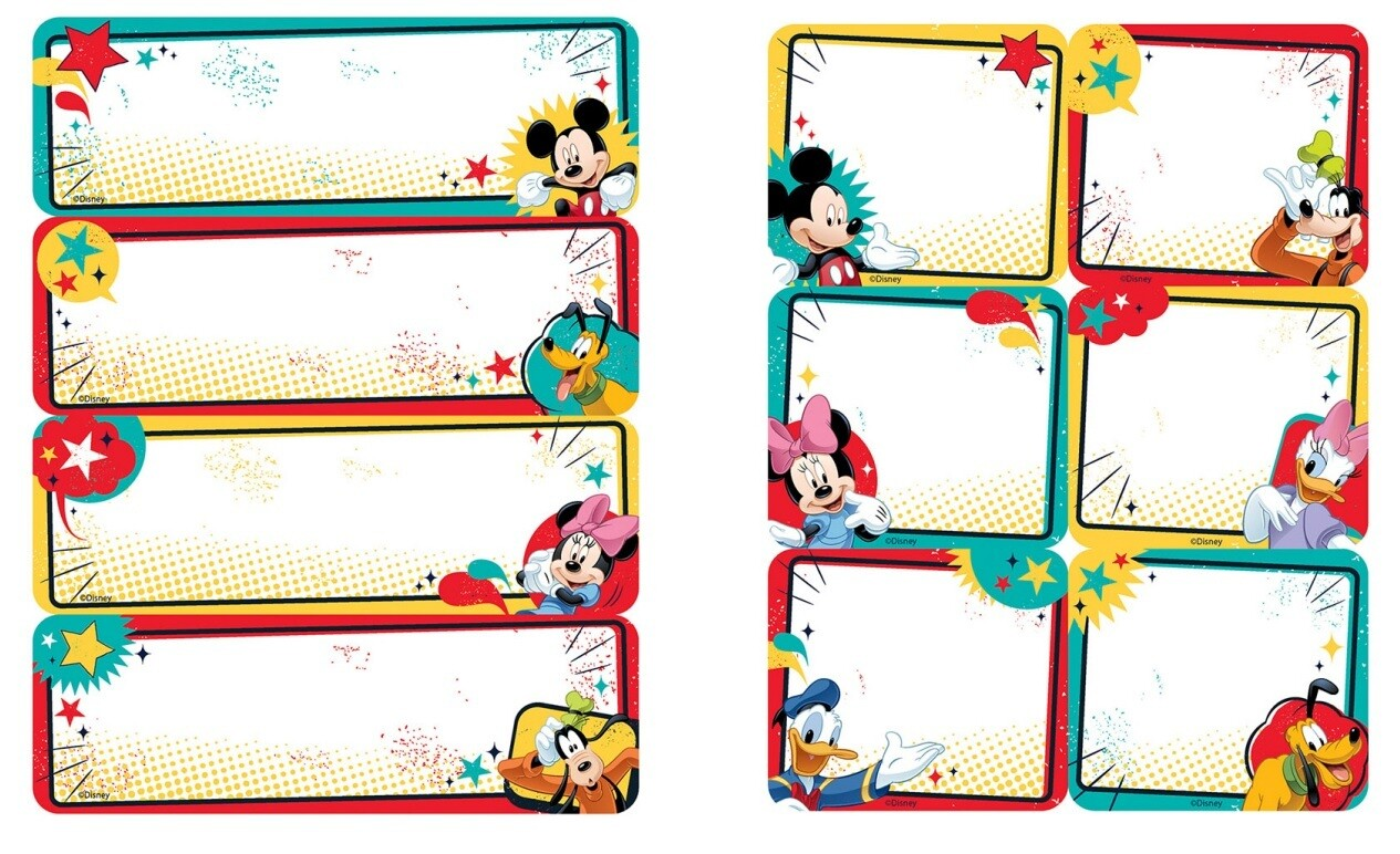 Label Stickers Mickey (pk-56)- Labels