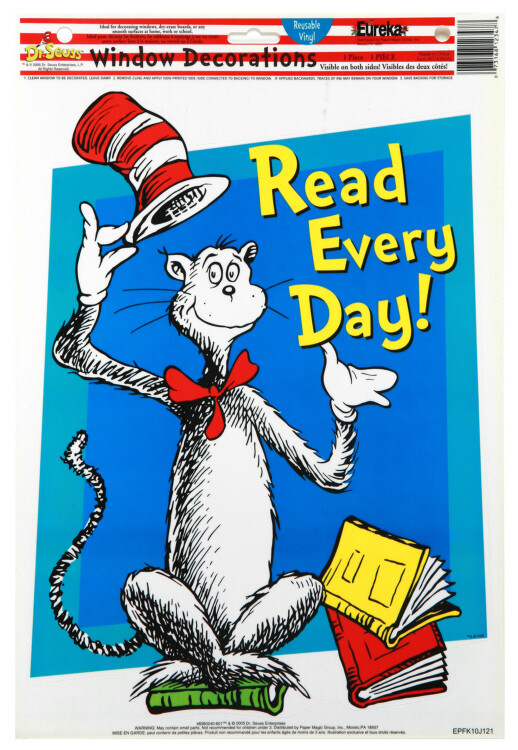 Cat in the Hat™ Read Every Day Window Clings