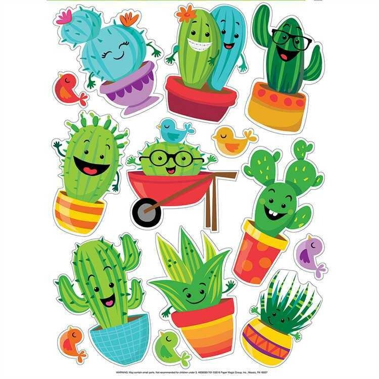 A Sharp Bunch Window Clings- Cactus