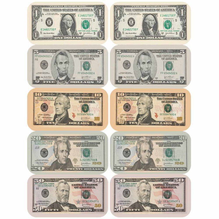 Paper Currency Banner Stickers
