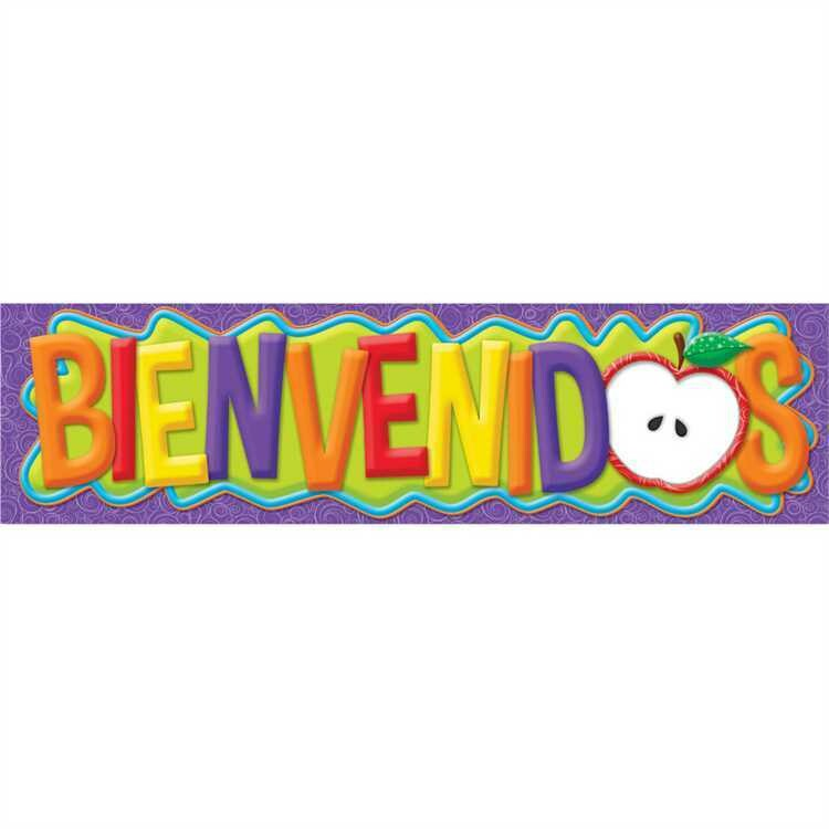 Color My World Spanish Welcome Horizontal Banner