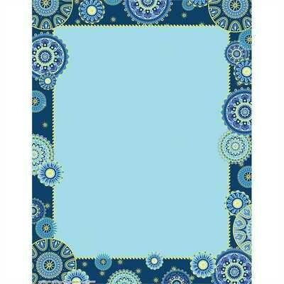 Blue Harmony Computer Paper