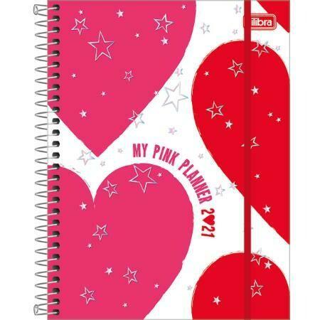 2021 Planner w/Spiral Love Pink
