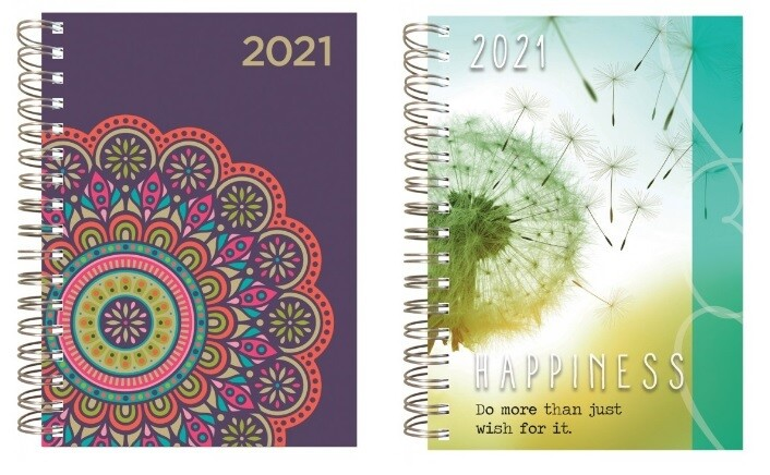 2021 12-Month Spiral Hardback Planner - Dated