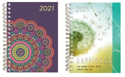 2021 12-Month Spiral Hardback Planner - Dated