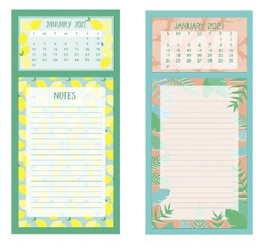 2021 Magnetic List Pad Calendar