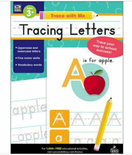 Trace with Me: Tracing Letters Activity Book Grade Toddler-K