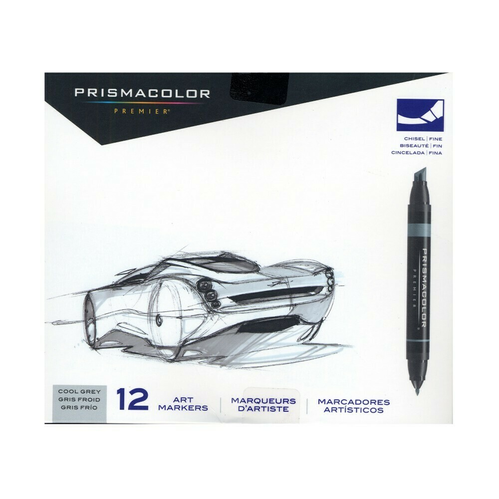 Art Markers Prismacolor 12-pk Cool Grey Color ONLY