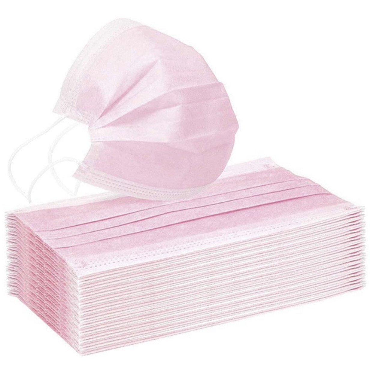 Disposable Face Mask - PINK (pk-50)