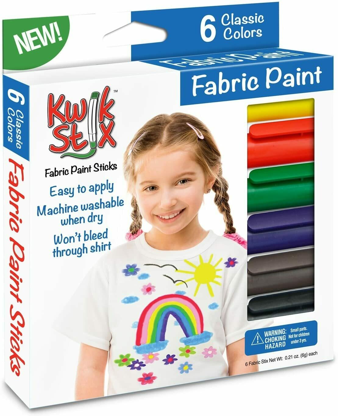Kwik Stix Fabric Paint (pk-6)