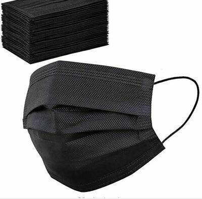 Disposable Face Mask - Black (pk-50)