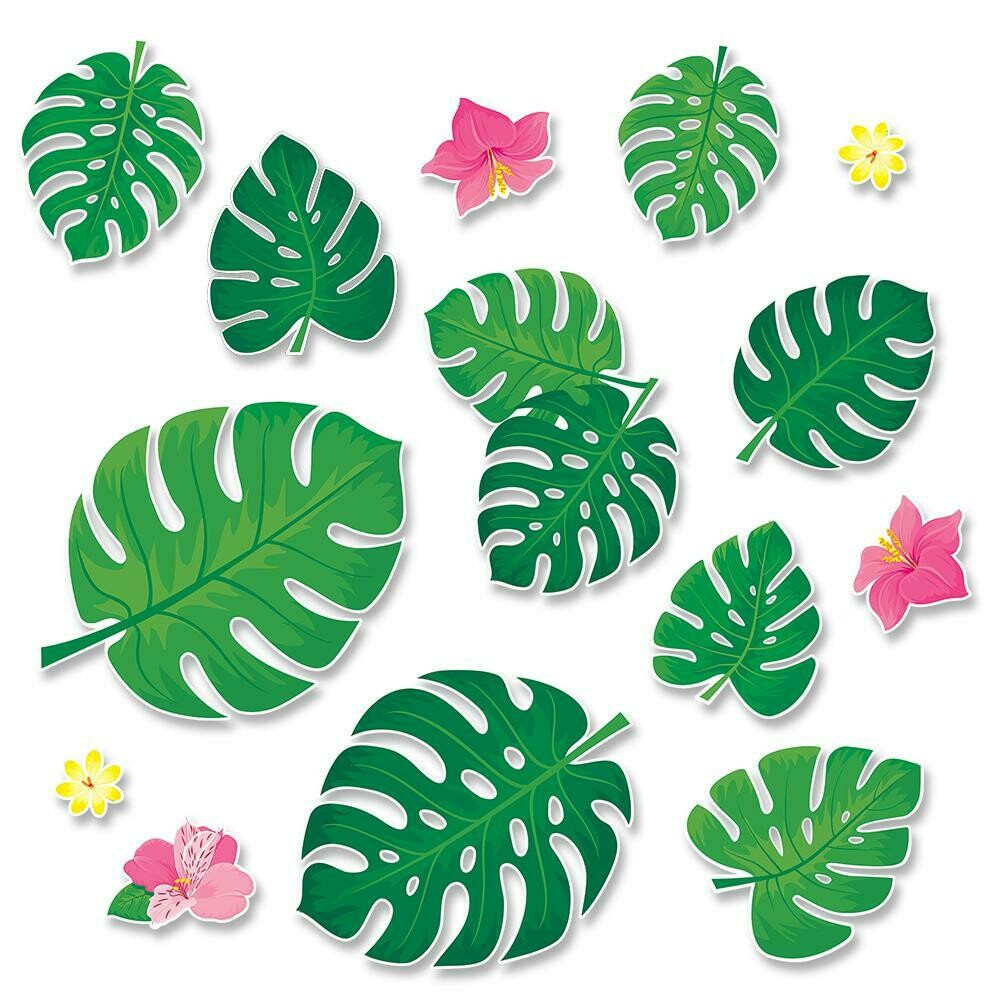 Palm Paradise Monstera Leaves Bulletin Board