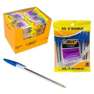 Pen Bic Blue (pk-12)