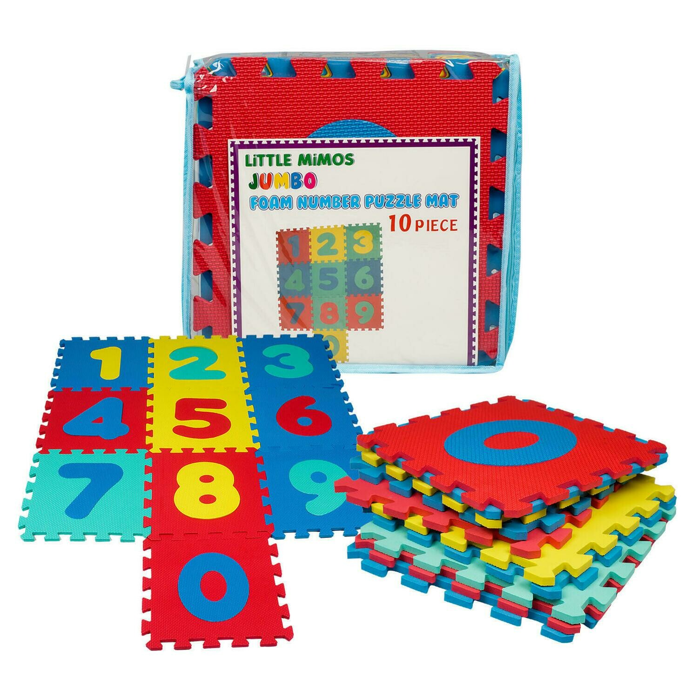 10 Piece Foam Number Floor Puzzle Mat