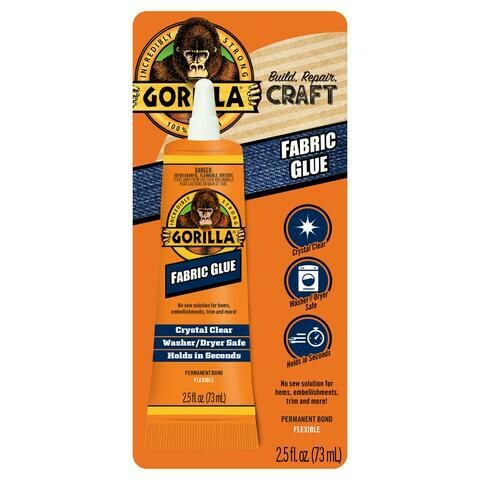 Fabric Glue 2.5 oz Gorilla