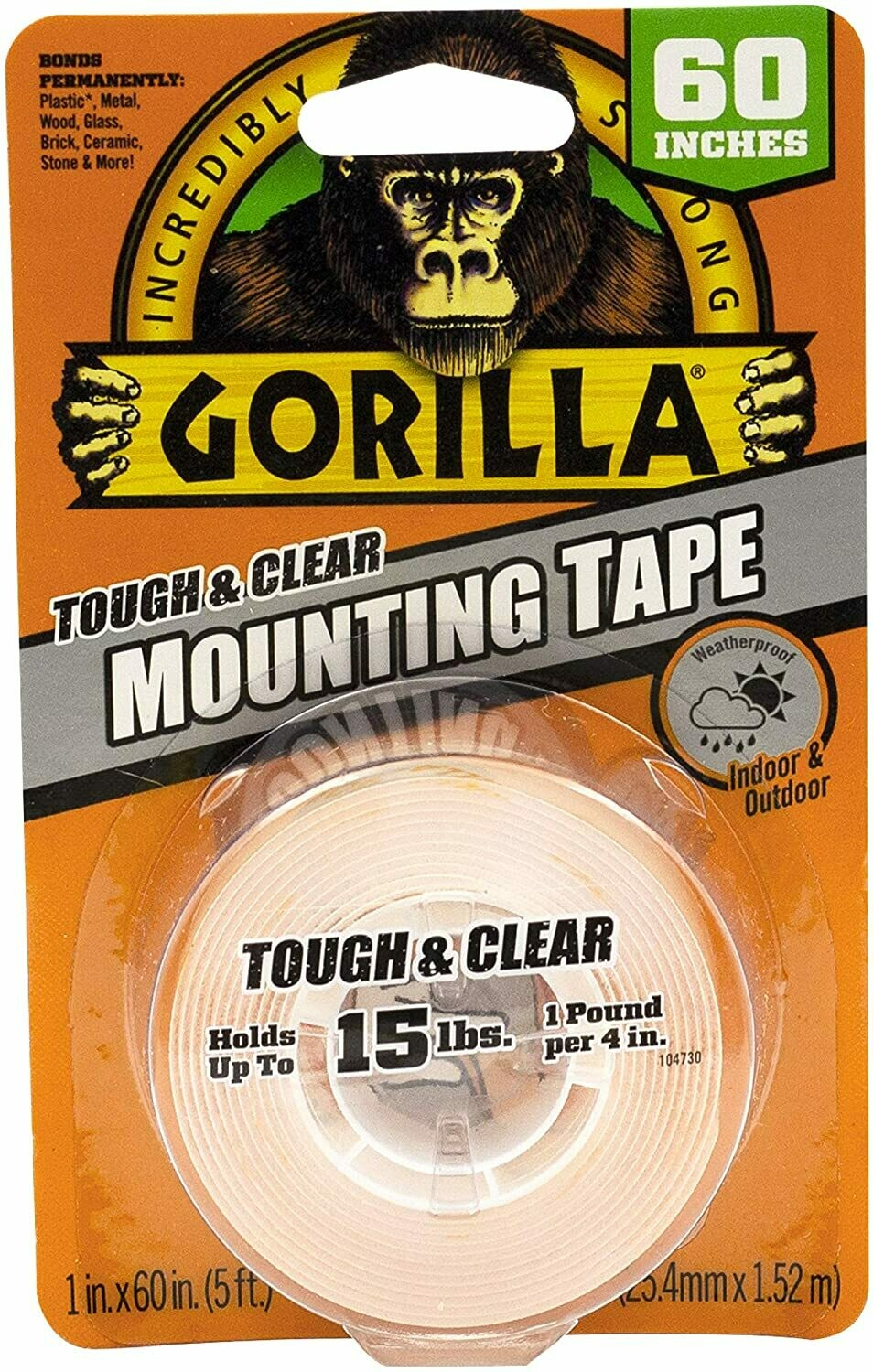 Mounting Tape Tough & Clear- Indoor & Outdoor