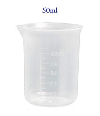 Plastic Graduated Plastic Cups Measuring Cups Transparent Scale Cups- 50ml
