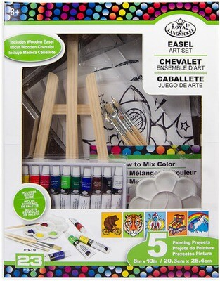 EASEL ART SET 23 PC SET