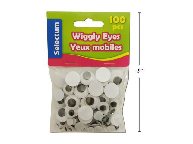 Wiggly Eyes Assorted Sizes (pk-100)