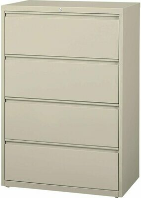 "Hirsh Industries Four-Drawer Lateral File Cabinet - 36"" x 18 5/8"" x 52 1/2"""