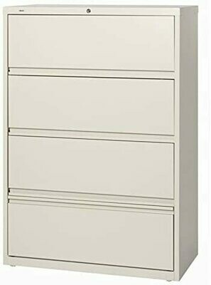 "Hirsh Industries 36"" Wide Four-Drawer Lateral File Recede and Roll-Out -"