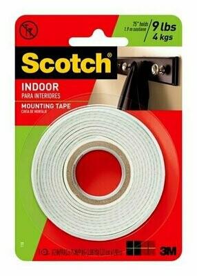 "Tape Scotch Mounting 1/2"" x 2yds, BC"