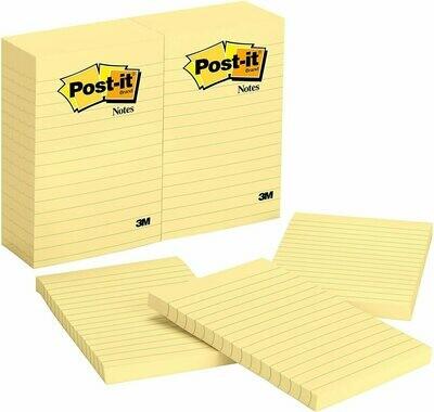 """Self-Stick Pads, Highland Ruled 4"""" x 6"""" Yellow [Dozen]"""