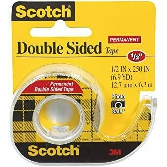 "Tape Scotch Double Sided 1/2"" x 250"", BC"