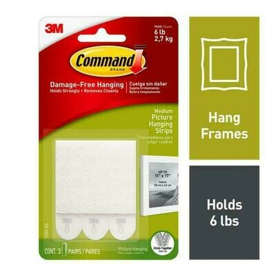 Command Medium Picture Hanging Strips 4 Pack