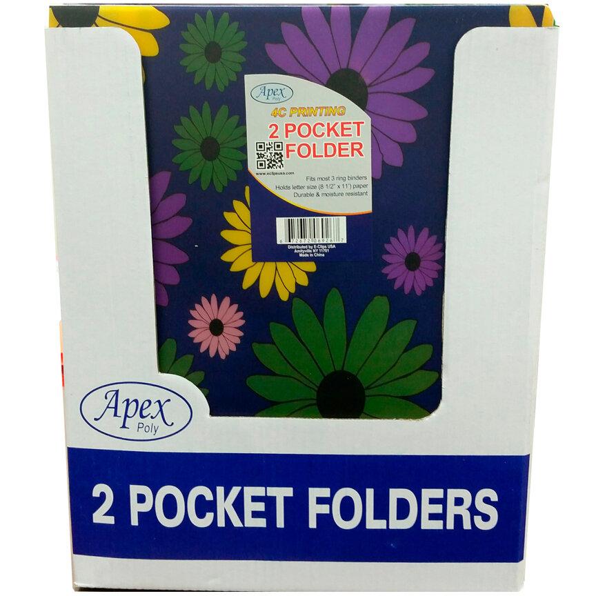 Twin Pocket POLY Asst Design