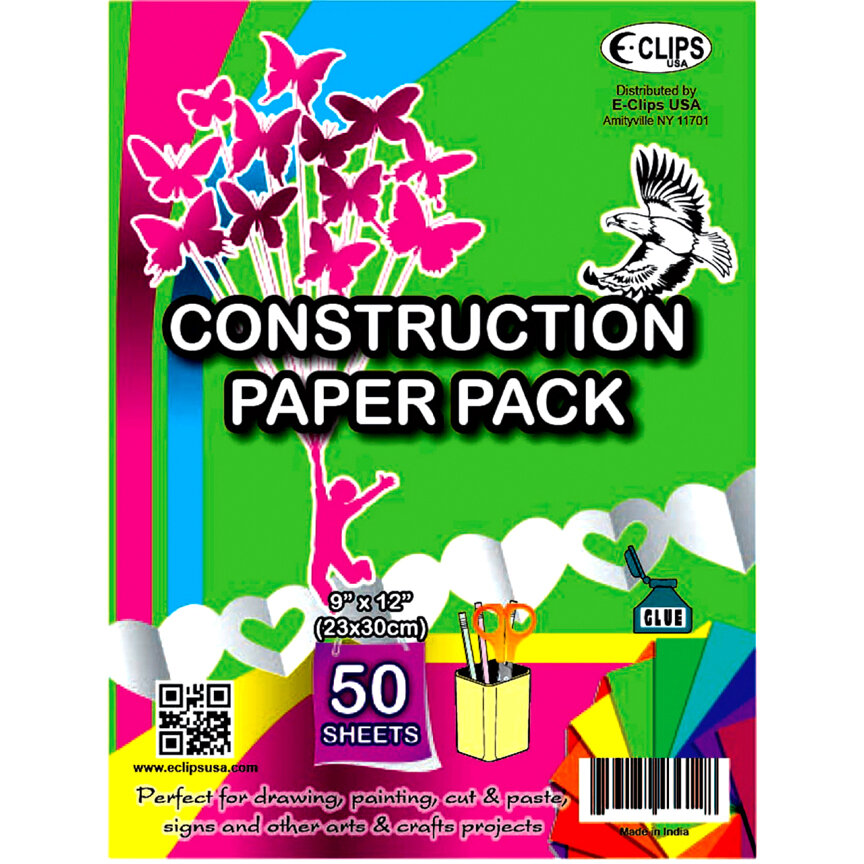Construction Paper 9×12 50ct. Assorted Colors