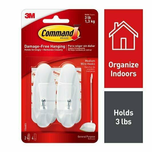 Command Medium Wire Hooks