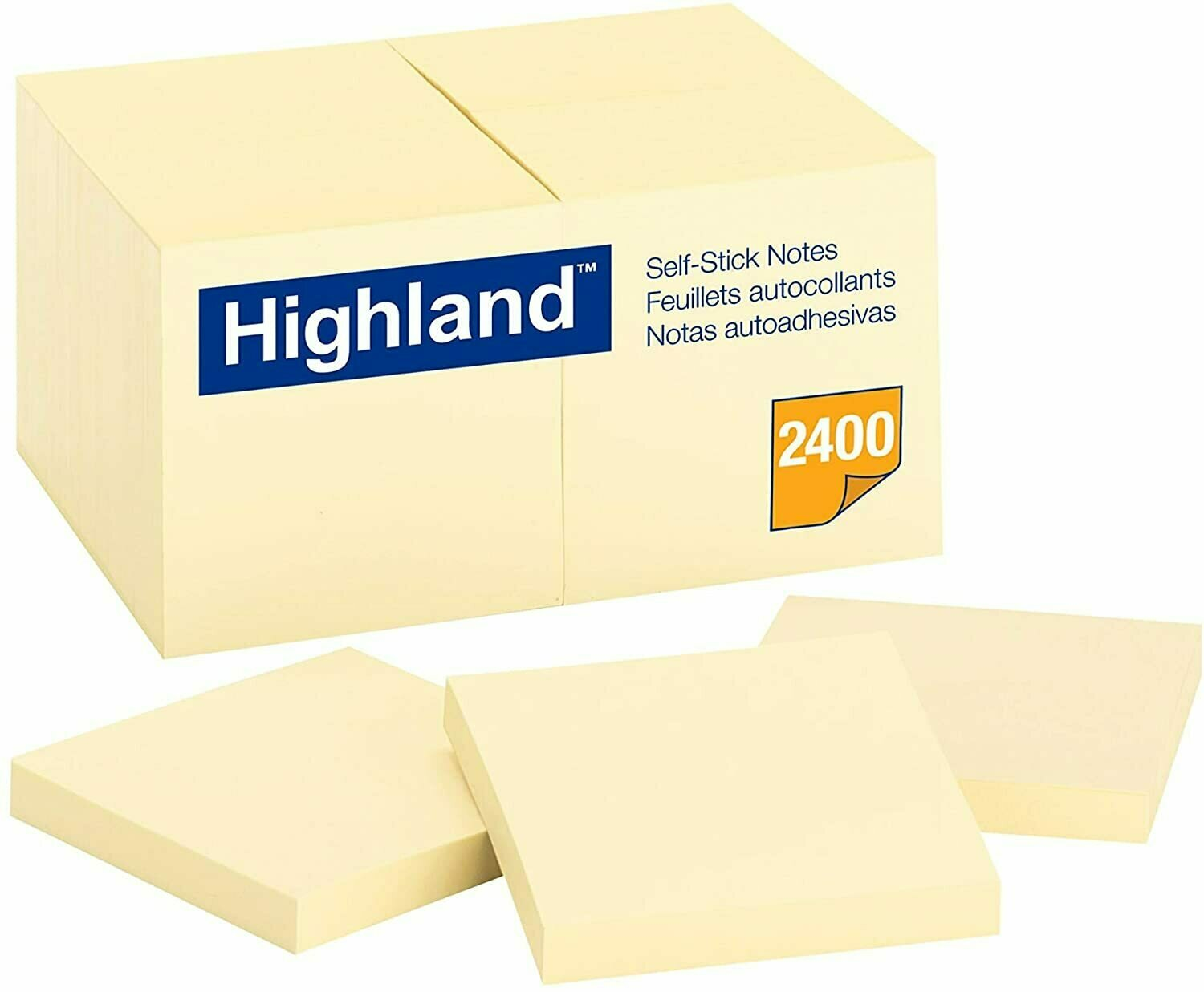 "Self-Stick Pads, Highland  3 x 3"", Yellow"