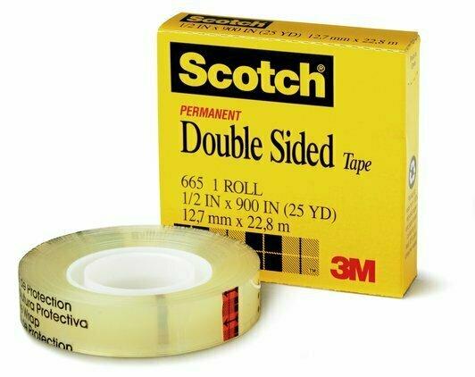 """Tape Scotch Double Side 665 1/2"""" x 25 yds."""