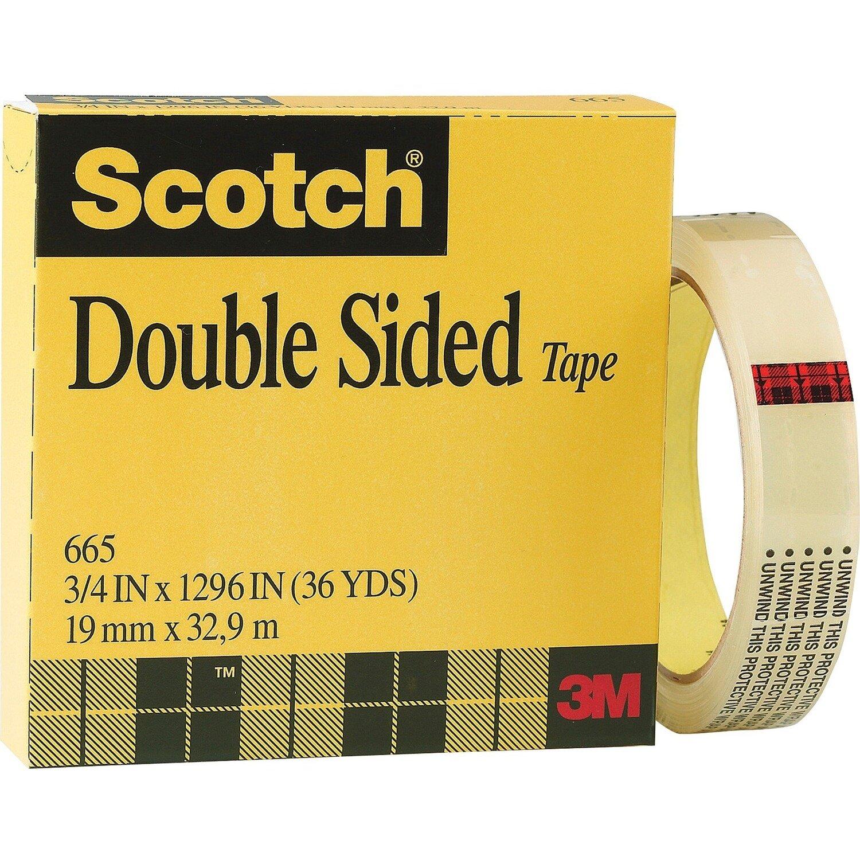 "Tape Scotch Double Sided 665 1/2"" x 36 yds"