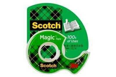 "Tape Scotch Magic Tape 1/2"" x 448.9"", BC (Grn Pk)"