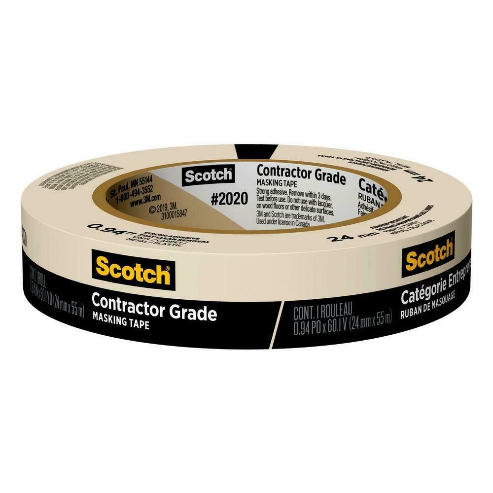 "Tape Scotch Masking 1"" x 60 yds"