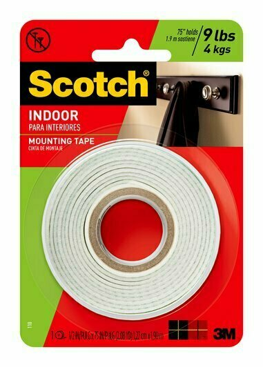 "Tape Scotch Mounting 1/2"" x 2yds, BC"