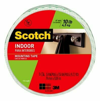 Tape Scotch Mounting 110-Long-Hang, 0.75 in x 350 in