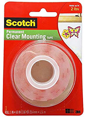 "Tape Scotch Mounting Clear Heavy Duty, 1"" x 60 yards, BC"
