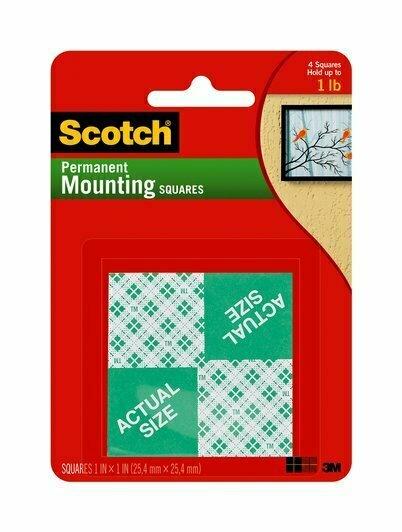 "Tape Scotch Mounting Squares 1"" x 1"""
