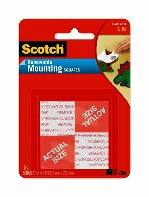 "Tape Scotch Mounting Squares 1"" x 1"", Removable, BC"