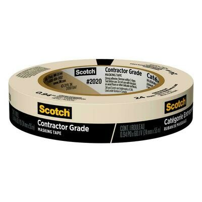 "Tape Scotch Masking 1"" x 60 yds"